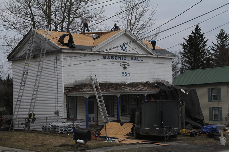 Masonic Hall roof replacement process 8684